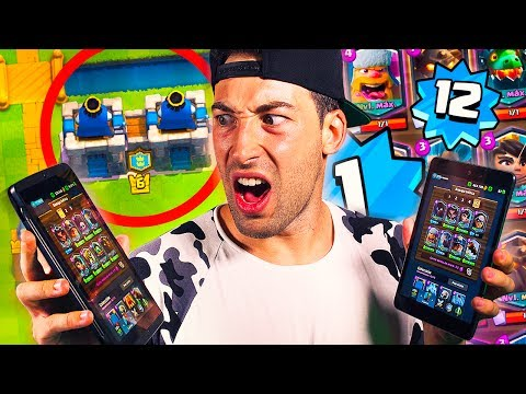 DESTROYING SOLO IN 2V2!! LEVEL 1 WITH ALL LEGENDARIES + LEVEL 12 IN CLASH ROYALE