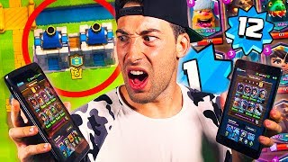 Video de ¡¡DESTROZO JUGANDO SOLO EN 2 VS. 2!! NIVEL 1 CON TODAS LEGENDARIAS + NIVEL 12 EN CLASH ROYALE