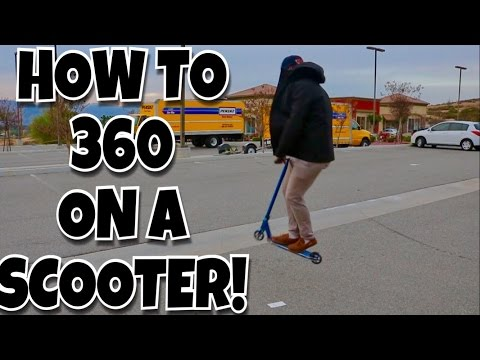 Scooter Tricks For Beginners | How To 360 On A Scooter