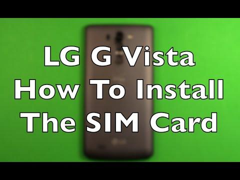 How To Install Sd and Sim Card Into Lg G Vista