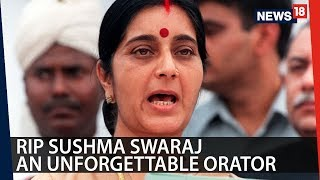 Remembering Sushma Swaraj Through Her Fiery Speeches  | CRUX