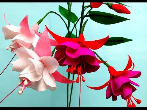 How to make Paper Flower Fuchsia Double (flower # 98)