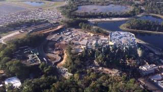 Repeat youtube video Aerial Flyover of Pandora: The World of AVATAR at Disney's Animal Kingdom - December 2016