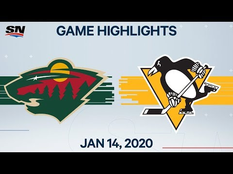NHL Highlights | Wild vs Penguins – Jan. 14, 2020