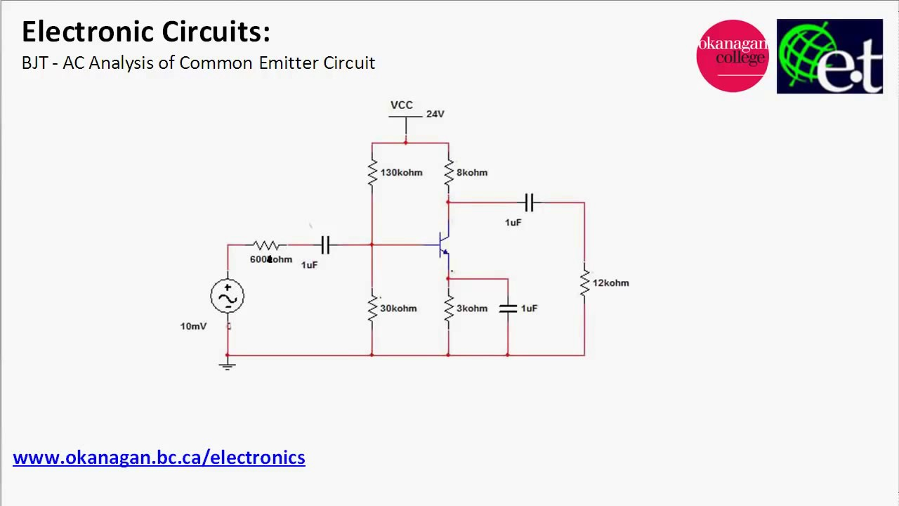 Ce Amplifier Circuit Diagram Electrical Wiring 1000w Power Electronic Circuits Common Emitter Youtube Rh Com Diagrams Simple