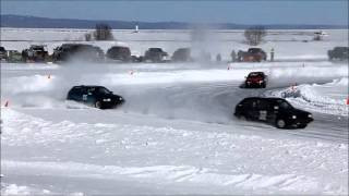 Auto Ice Racing - studded tires last day race - Thunder Bay