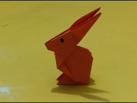 How To Make Rabbit Paper Craft Origami Crafts For Kids Youtube