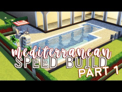 Let's Build: The Sims 4 | Mediterranean House Speed Build | Part 1