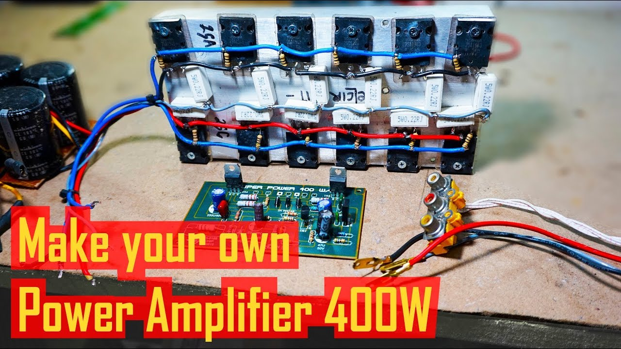 hight resolution of test power amplifier 400w 2sc5200 2sa1943