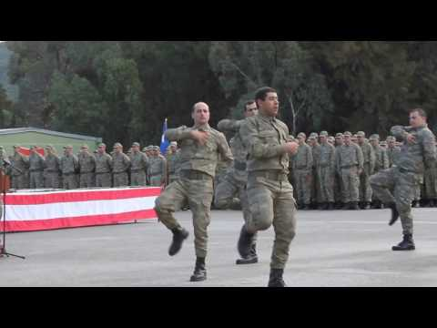 Turkish soldiers dance the turkic zeybek dance of the yoruk oghuz