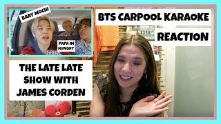 BTS (방탄소년단) - Carpool Karaoke @ The Late Late Show With James Corden REACTION