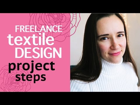 How to work with a freelance textile designer. 9 steps of a freelance project.