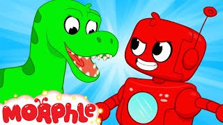 Robots vs Dinosaurs | Morphle & Orphle | My Magic Pet Morphle | Cartoons for Kids | @Morphle TV