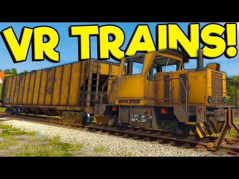 I Crashed My Train In Virtual Reality! - Derail Valley Overhauled Train Simulator Gameplay |