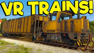 I Crashed My Train In Virtual Reality! - Derail Valley Overhauled Train Simulator Gameplay