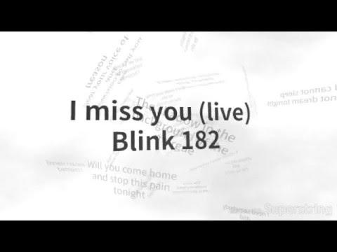 Blink 182 - i miss you (Lyrics on screen)