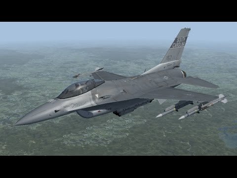 Falcon BMS 4.33   Применение ракет AIM-120
