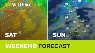 Weekend weather – a mixture in the north and sunny spells in the south.