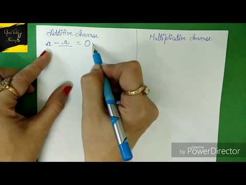 Class 8 || How To Calculate Additive And Multiplicative Inverse || Maths || CBSE NCERT ICSE