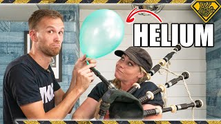 Playing a Bagpipe with Helium