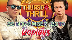 Thursday Thrill €urop€an | WushuTM | mindgamer Poker Replays 2019