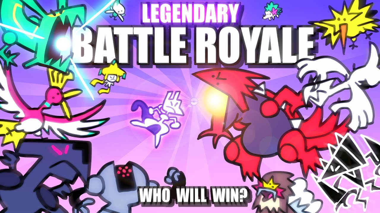 Legendary & Mythical Pokemon Battle Royale ANIMATED ????