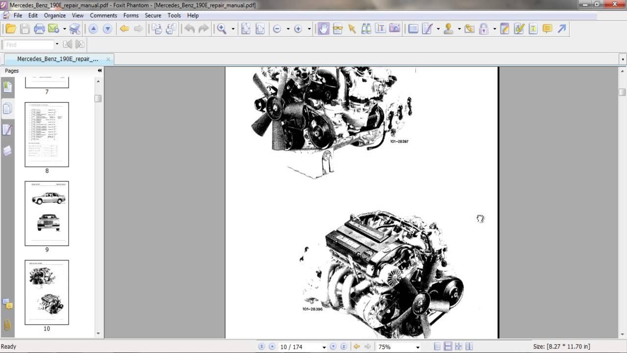 mercedes benz 190e repair manual [ 1280 x 720 Pixel ]