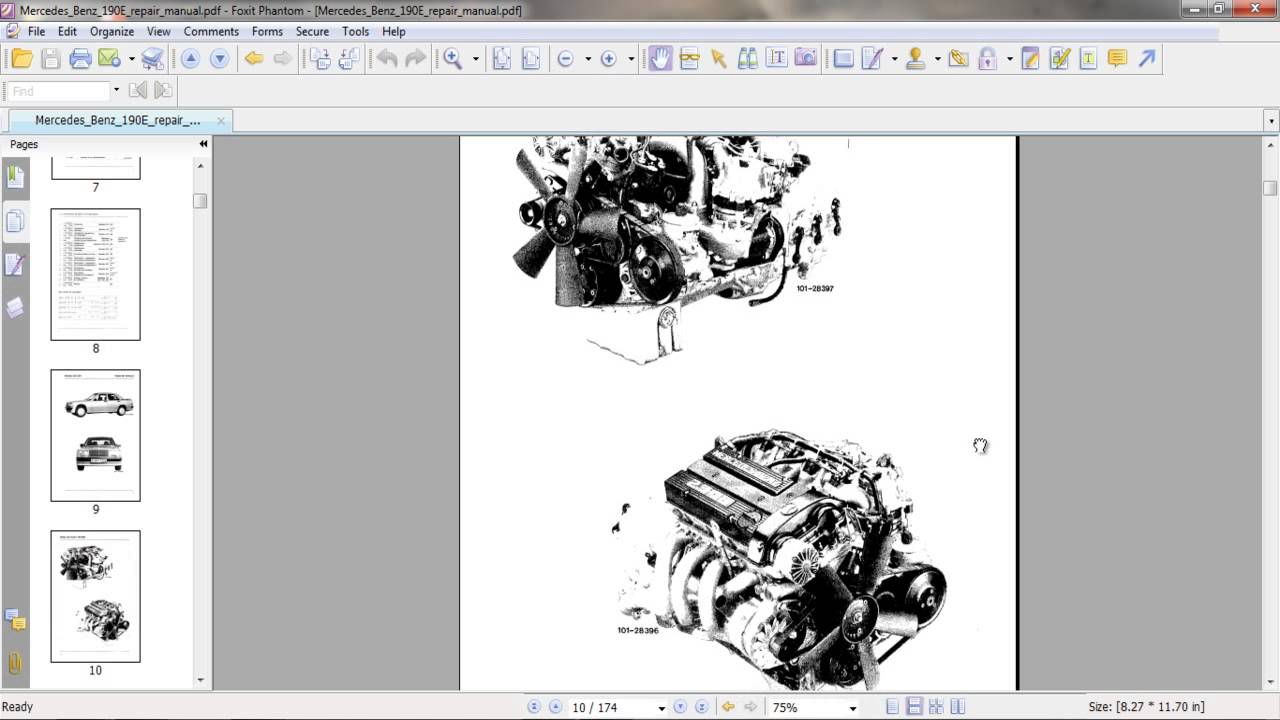 hight resolution of mercedes benz 190e repair manual