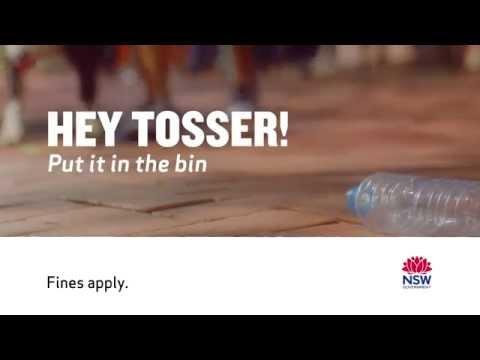 Thumnbail for HEY TOSSER! Bottle litter