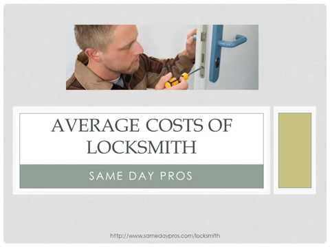 Average Costs of Locksmith