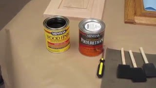How to stain replacement cabinet doors