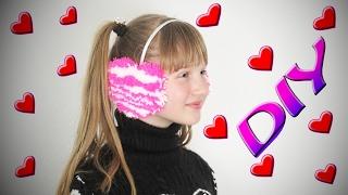 Как сделать наушники валентинки в форме сердечка DIY