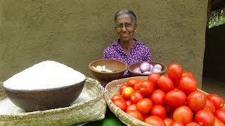 Tomato Rice Recipe by Grandma ❤ Village Life