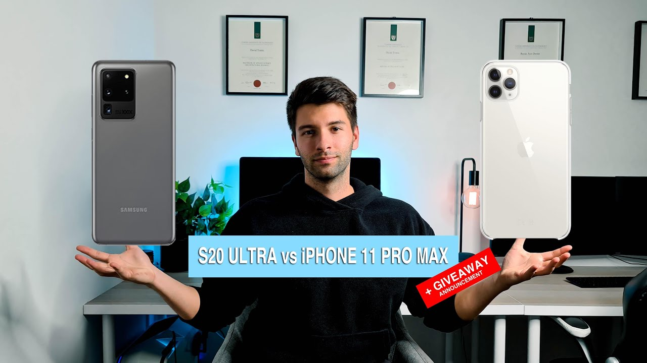 S20 ULTRA (GIVEAWAY) vs iPHONE 11 PRO MAX | DAVID TOMIC | 2020