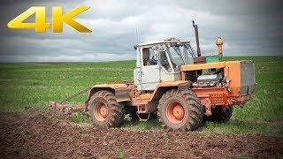 Как 30 лет назад: трактор ХТЗ Т-150К пашет поле, ДТ-75  боронит пашню