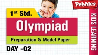 Olympiad English Std 1 | Learn Is & Are, Opposites, Adjectives | Olympiad  Preparation & Modal Paper