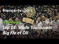 Finale Top 14  : BigFlo & Oli et les joueurs du Stade Toulousain chantent dans le vestiaire