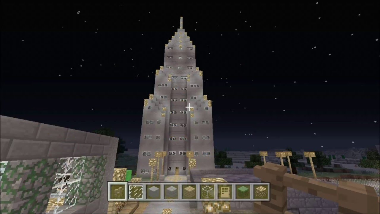 How to Build a Skyscraper Building on Minecraft, Easy ...