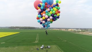 FLYING IN SKY   WITH BALLOONS