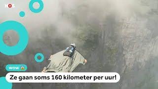 WK Wingsuit: springen en vliegen tussen hoge bergen