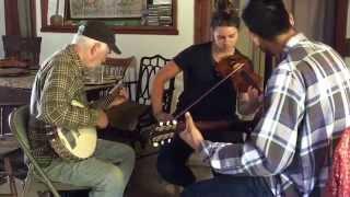 Grace Forrest,John Harmann on banjo - Indian Ate the Woodchuck, 2015 big sur Fiddle camp