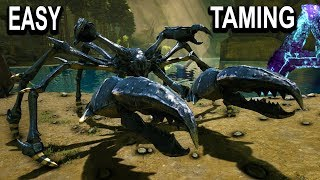 🦀ARK EASY KARKINOS TAMING + ALL ABILITIES!! Ark Aberration How To Tame Giant Crab