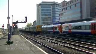 Hastings DEMU on The Western Forester @ Reading 15/09/12