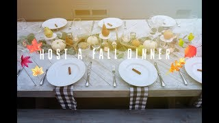 Host A Cozy Fall Dinner Party || Choosing your Group, Menu, Table Decor! streaming