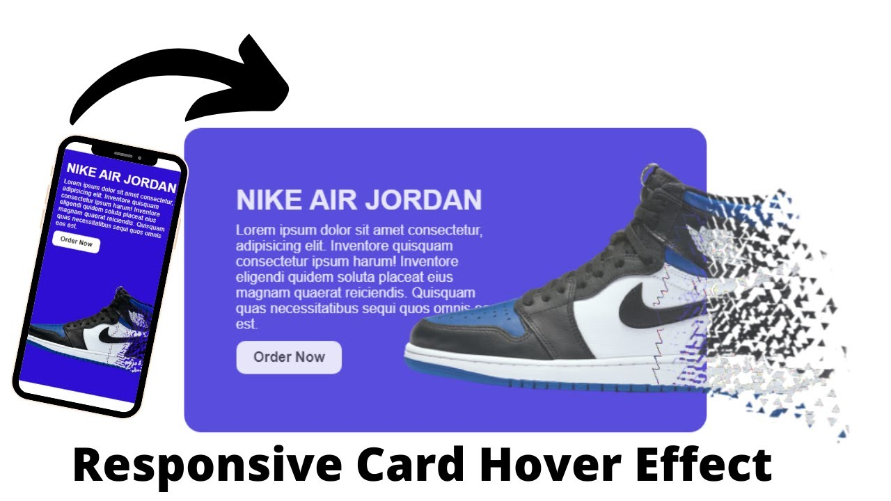 CSS Responsive Card Hover Effects   Nike Card Using Html And CSS