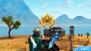 Secret Battlestar Emplacement Saison 6 Semaine 1 Guide (Hunting Party Challenges) - Fortnite Battle Royale