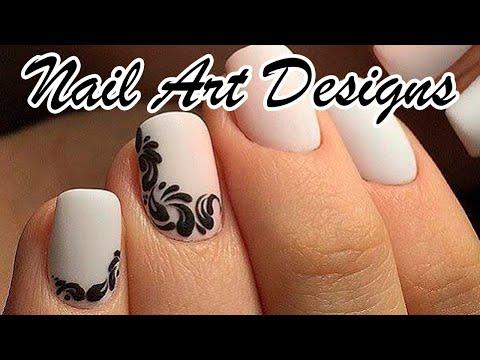 Дизайн ногтей для начинающих. Вензеля на ногтях. Маникюр