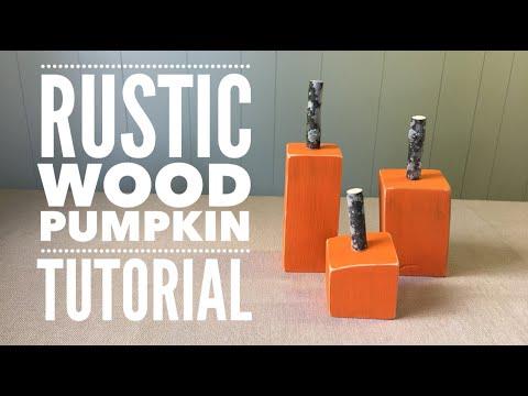 Rustic Wood Pumpkin Tutorial