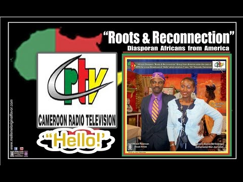 "CRTV ""HELLO!"" Live-TV Show @Cameroon~Africa (Dr. Lisa Aubrey - ""Roots~&~Reconnection"" Group)"