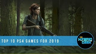 Top 10 Upcoming PS4 Video Games for 2019